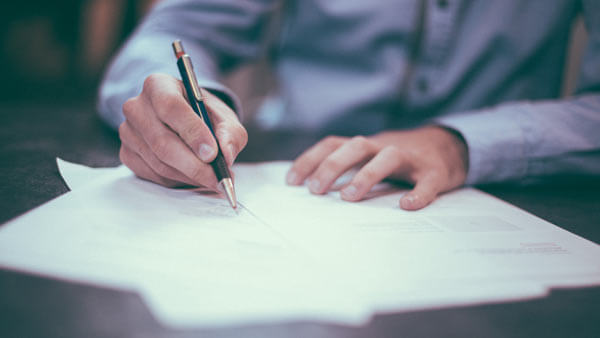 A person drafting a process
